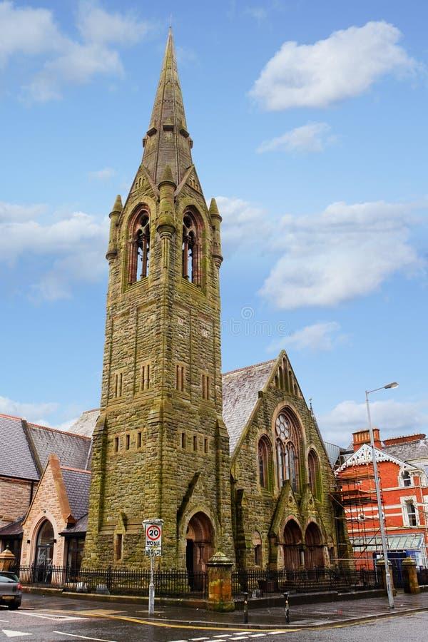 Fitzroy kyrka i Belfast fotografering för bildbyråer