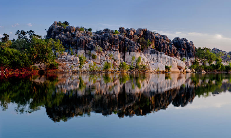Fitzroy Rive and Geikie Gorge. The Fitzroy River is located in the West Kimberley region of Western Australia. Geikie Gorge National Park is a national park in royalty free stock photos
