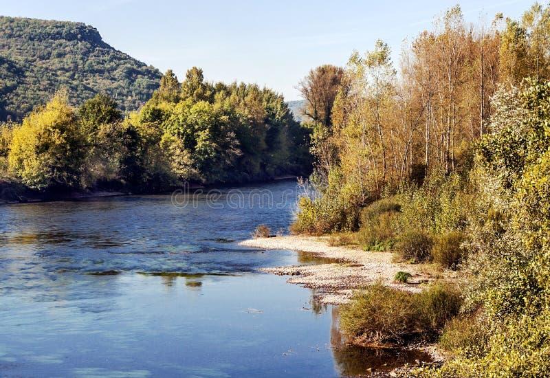 Fiume Aquitaine France fotografie stock