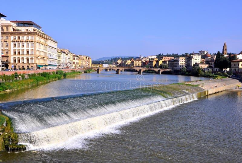 Fiume Arno a Firenze fotografie stock