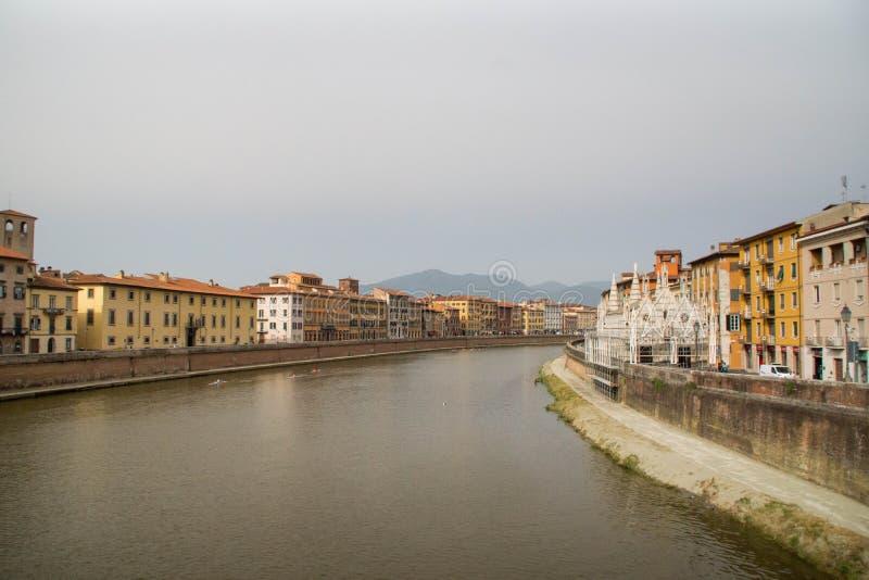 Fiume Arno, Pisa immagini stock