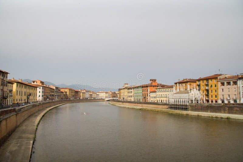 Fiume Arno, Pisa immagini stock libere da diritti