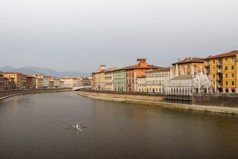 Fiume Arno, Pisa fotografia stock libera da diritti