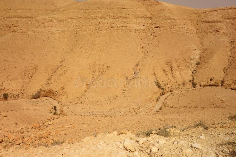 Fiume asciutto in Giordania immagini stock