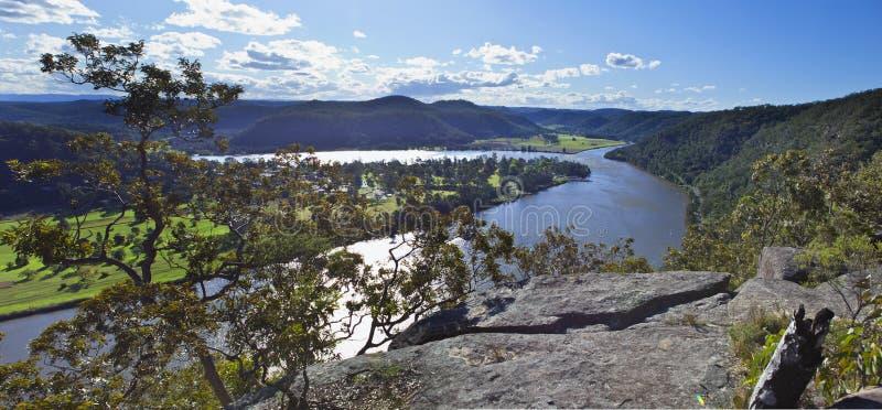 Fiume Australia di Hawkesbury del traghetto di Wisemans fotografia stock