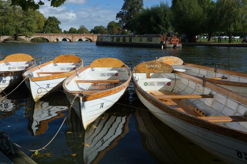 Fiume avon Stratford Upon Avon Regno Unito immagini stock libere da diritti