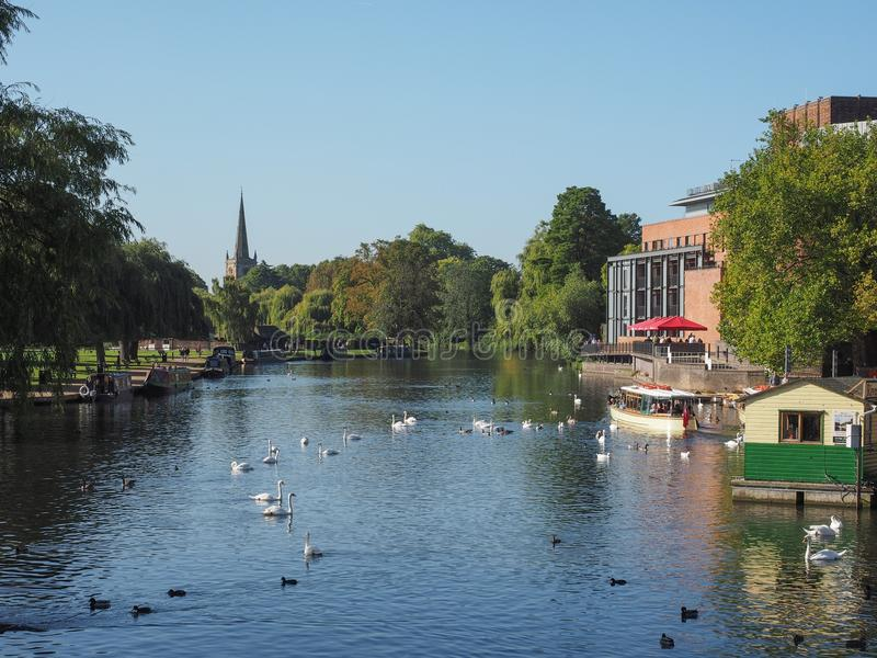 Fiume Avon in Stratford sopra Avon fotografie stock