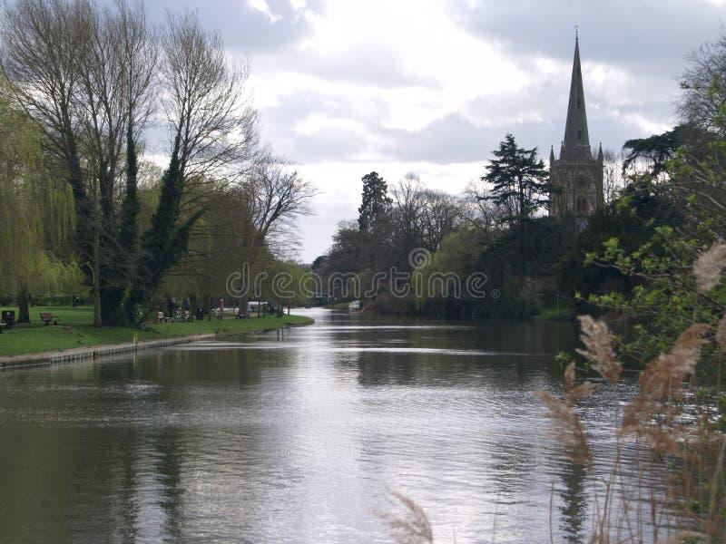 Fiume Avon Stratford-sopra-Avon, Inghilterra, Regno Unito immagini stock