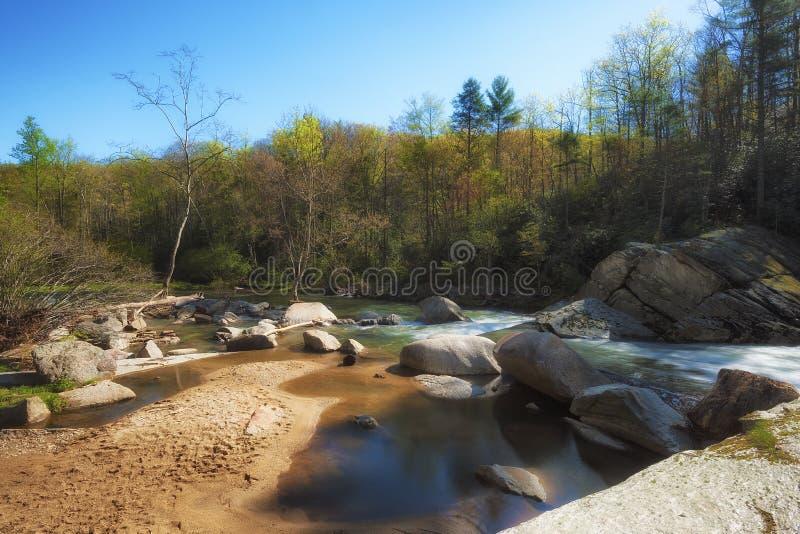 Fiume degli alci in Avery County North Carolina fotografie stock