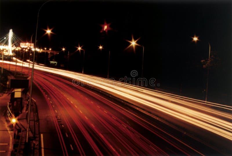 Fiume degli indicatori luminosi fotografia stock