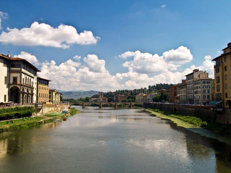 Fiume del Arno, Firenze, Italia fotografia stock