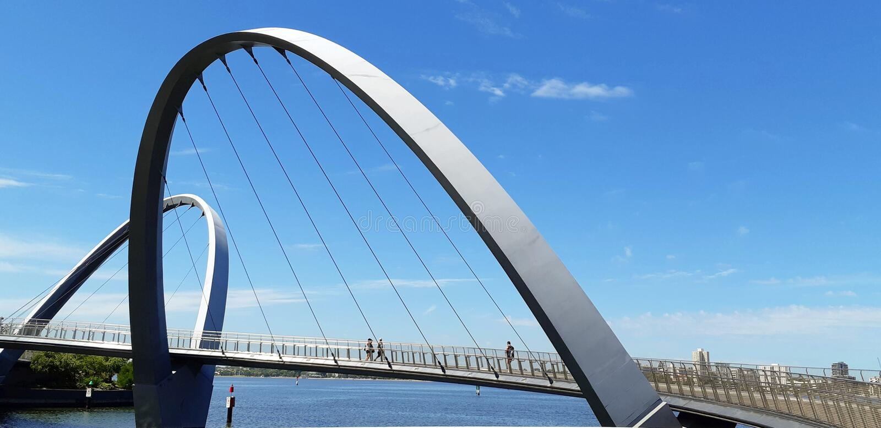 Fiume del cigno del ponte, Perth - Australia fotografia stock