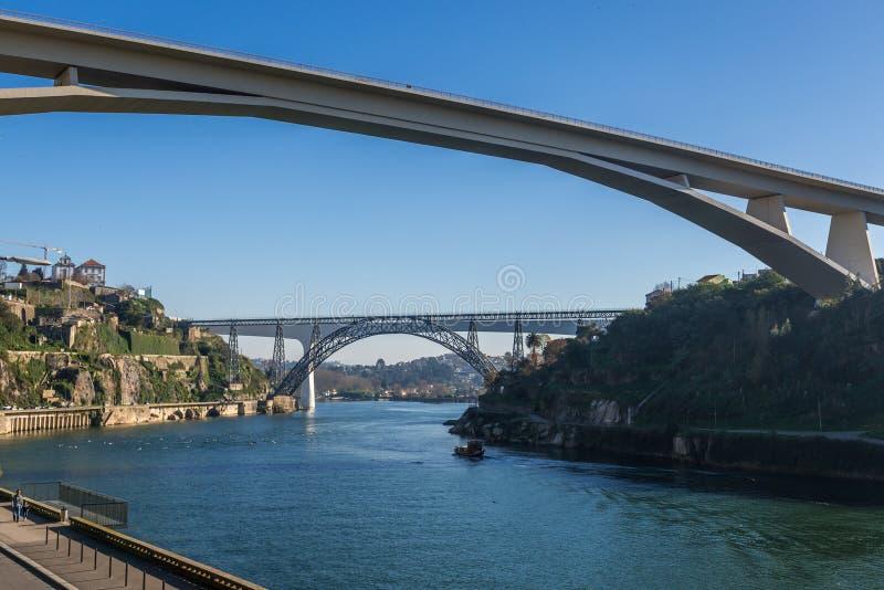 Fiume del Duero nel Portogallo fotografia stock libera da diritti