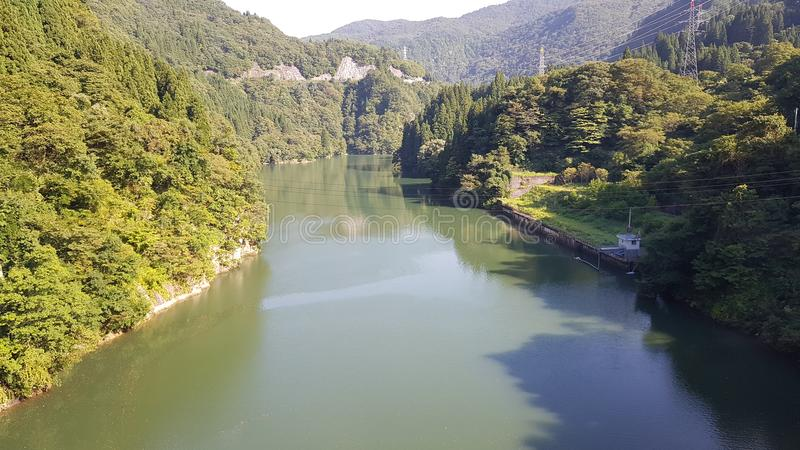 Fiume del Giappone fotografia stock