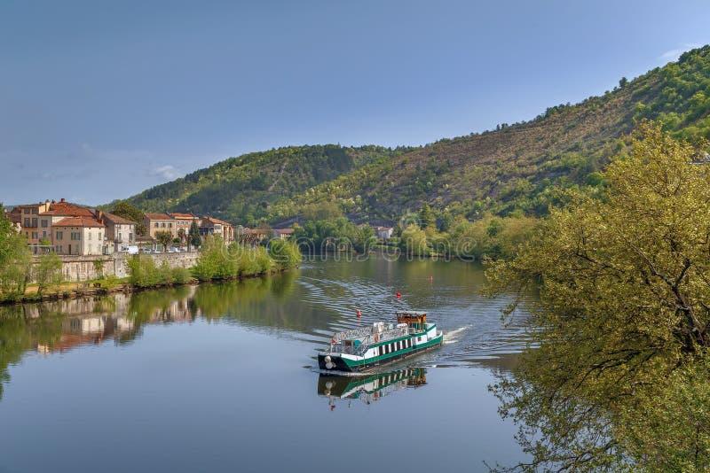 Fiume del lotto a Cahors, Francia immagine stock libera da diritti