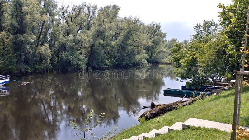 Fiume del Tamis in Pancevo, Serbia immagini stock libere da diritti