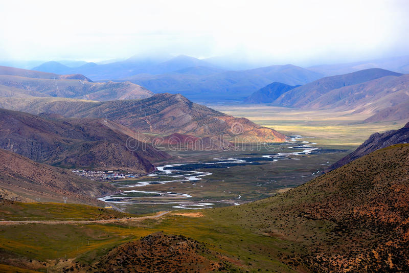 Fiume del Tibet fotografia stock