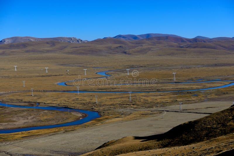Fiume del Tibet fotografie stock