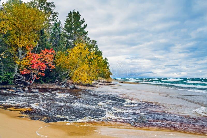Fiume dell'uragano del Michigan fotografie stock libere da diritti