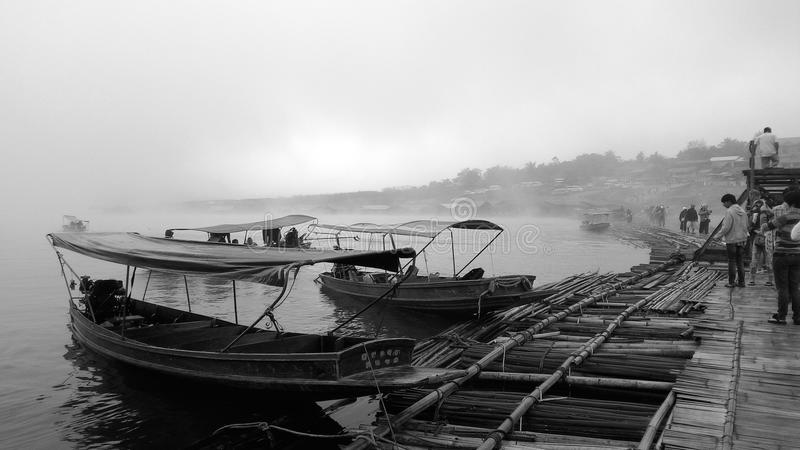 fiume della barca fotografia stock