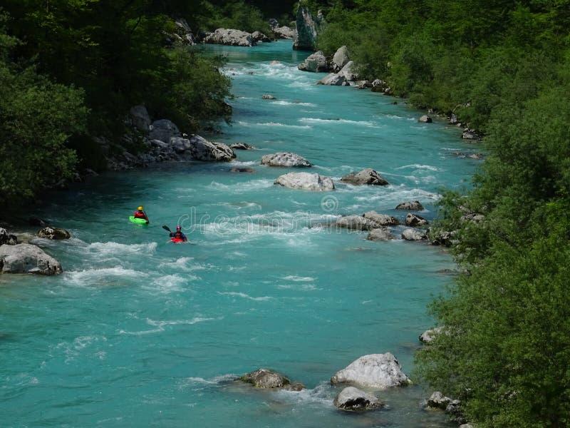 Fiume della valle di Soca, Slovenia fotografia stock