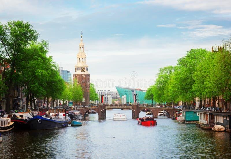 Fiume di Amstel, Amstardam, Olanda immagini stock