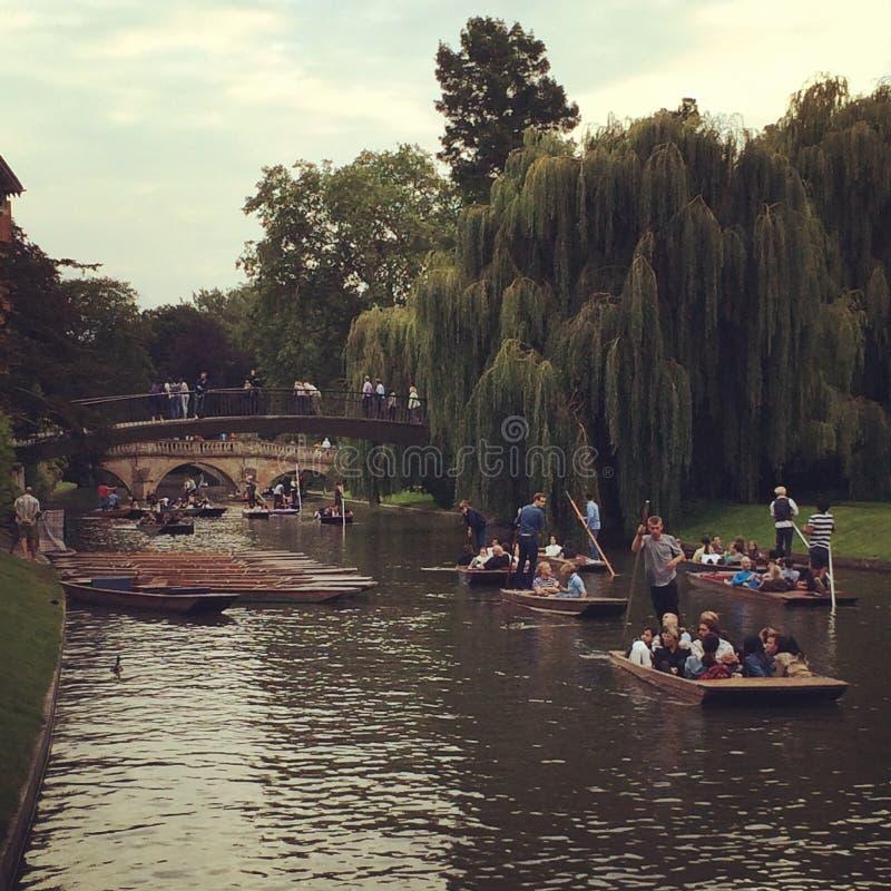 Fiume di Cambridge immagine stock