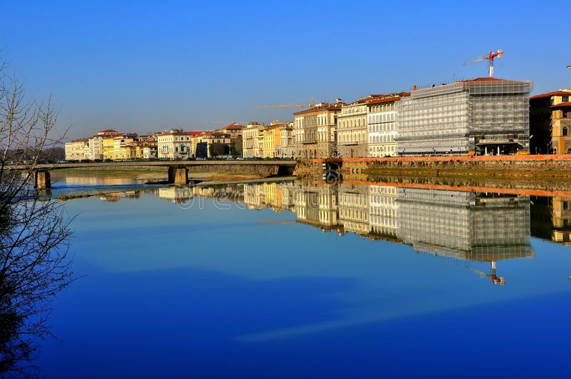 Fiume di Firenze, Italia immagini stock