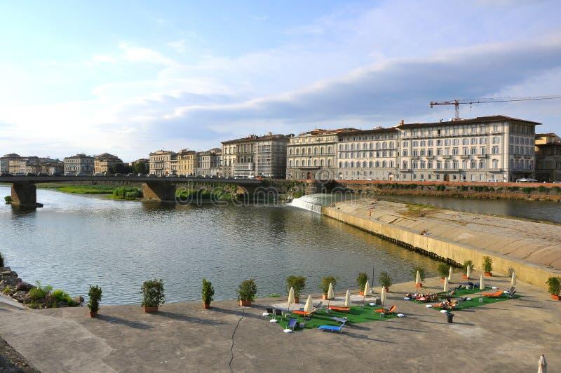 Fiume di Firenze, Italia fotografia stock