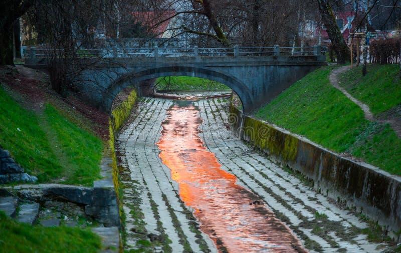 Fiume di Gradascica, Transferrina, Slovenia immagini stock
