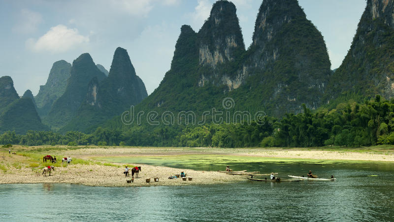 Fiume di Guilin Li fotografia stock