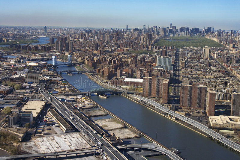 Fiume di Harlem e Bronx. fotografie stock