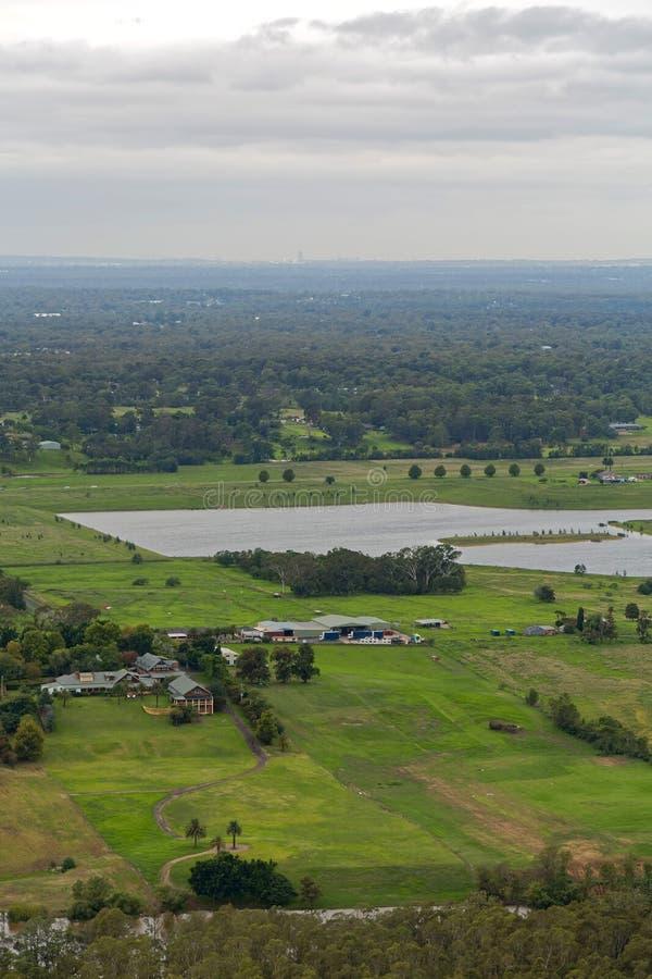 Fiume di Hawkesbury a Sydney occidentale, Australia fotografia stock