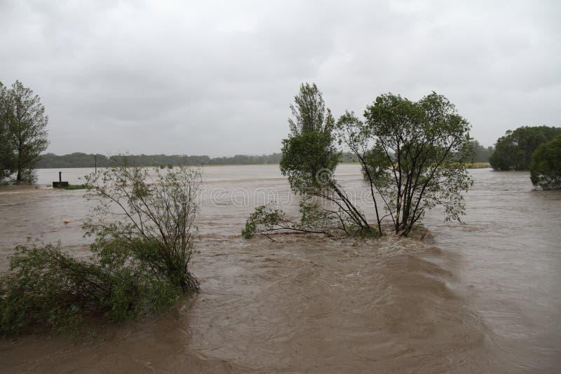 Fiume di inondazione immagine stock libera da diritti
