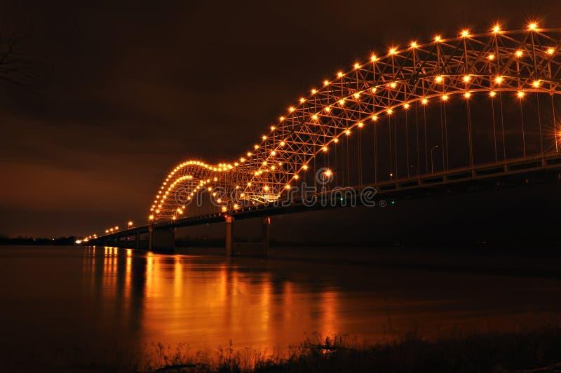 Fiume di Missisippie e Hernando de Soto Bridge immagine stock