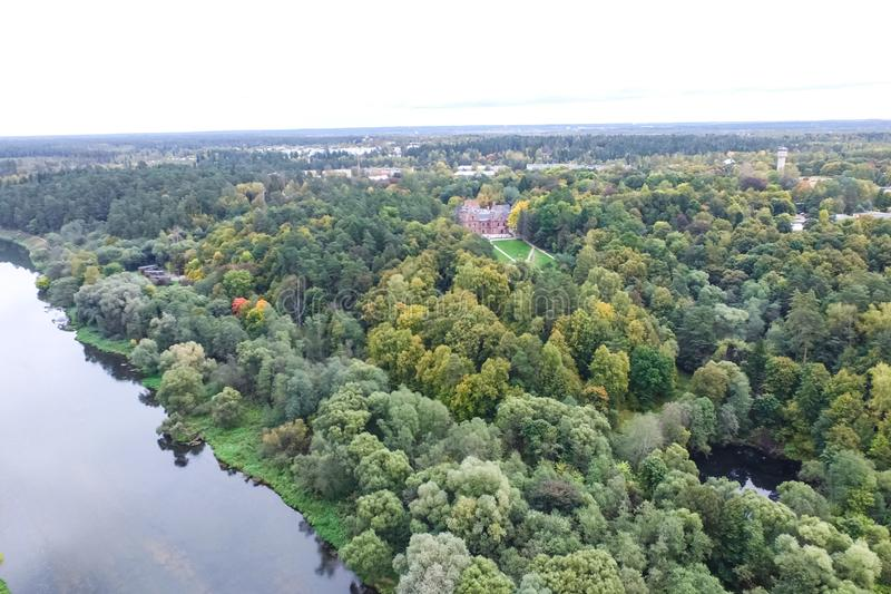 Fiume di Mosca, vista da sopra fotografia stock