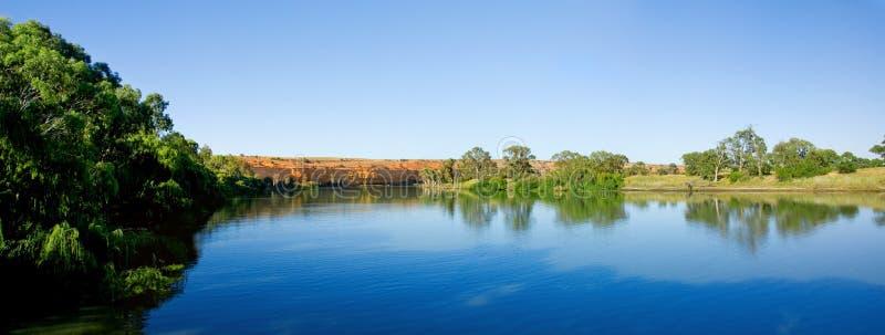 Fiume di Murray panoramico immagine stock