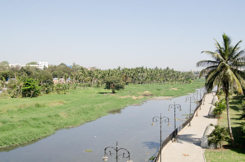 Fiume Di Musi, Haidarabad Fotografia Stock Libera da Diritti