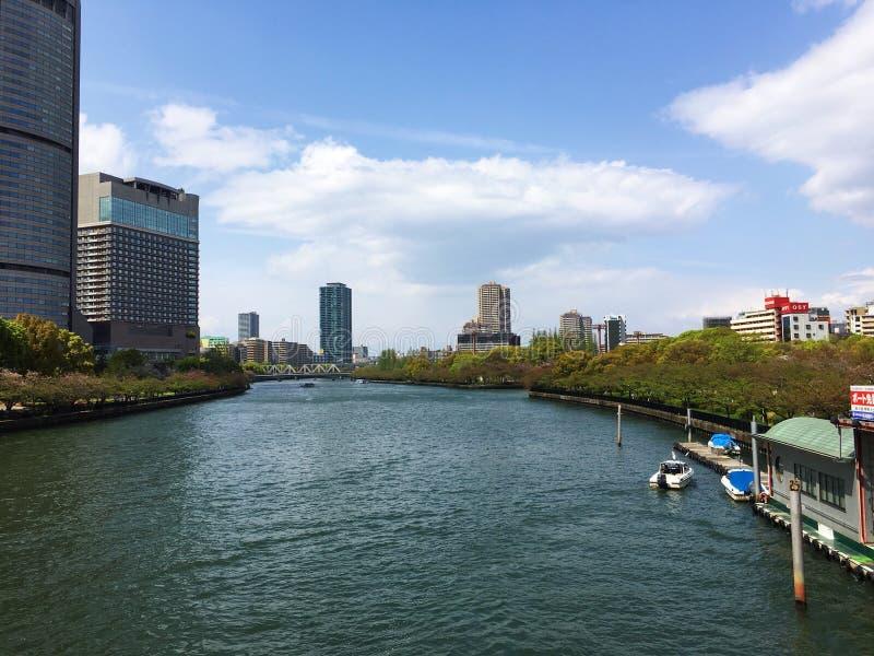 Fiume di Osaka fotografia stock