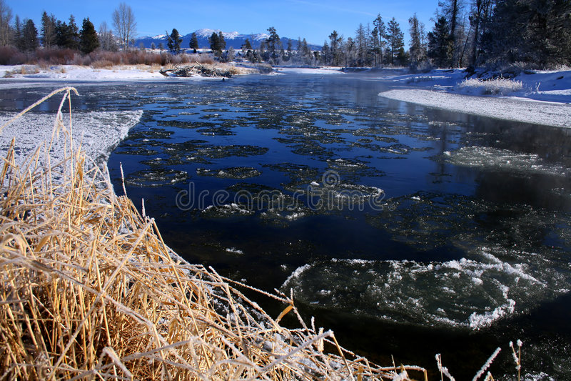 Fiume di Payette in inverno 2 fotografia stock libera da diritti