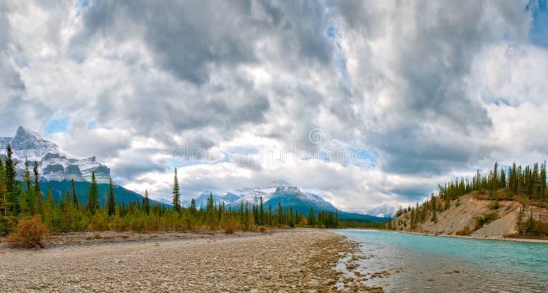 Fiume di Saskatchewan immagini stock
