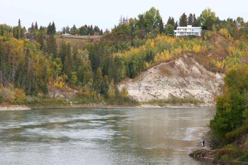 Fiume di Saskatchewan fotografia stock libera da diritti