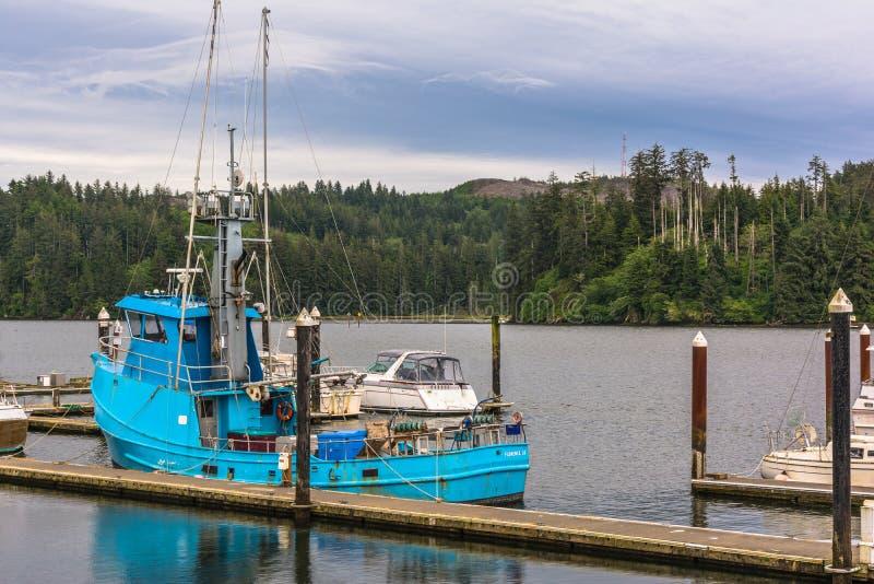 Fiume di Siuslaw a Firenze, Oregon fotografia stock