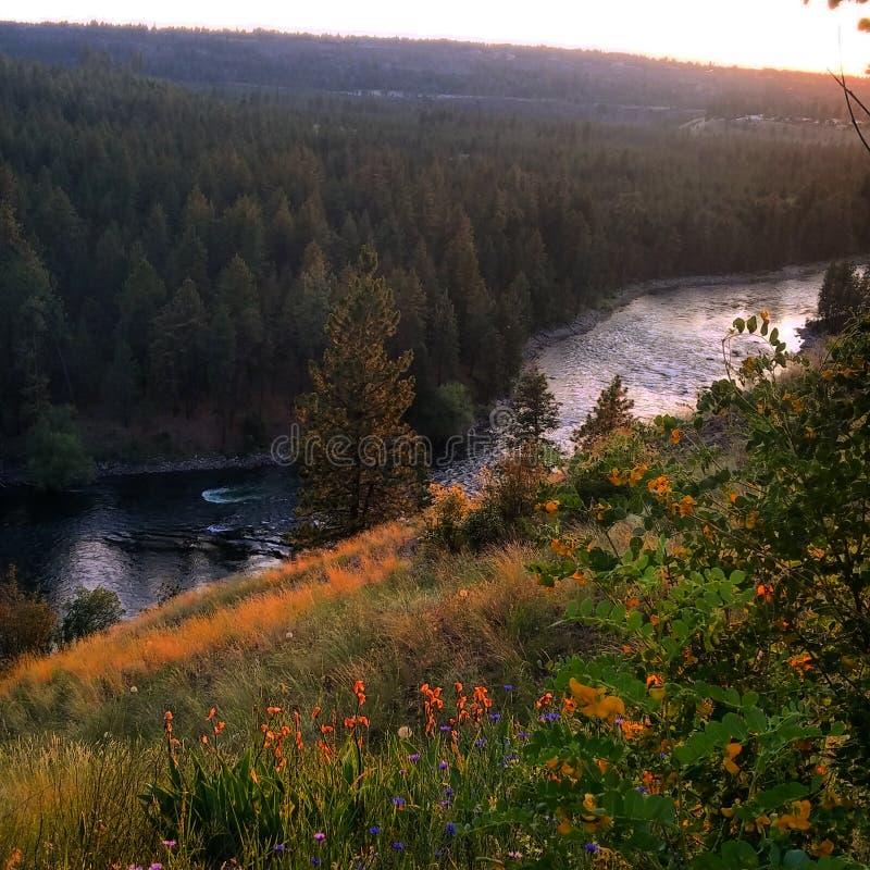 Fiume di Spokane immagini stock libere da diritti