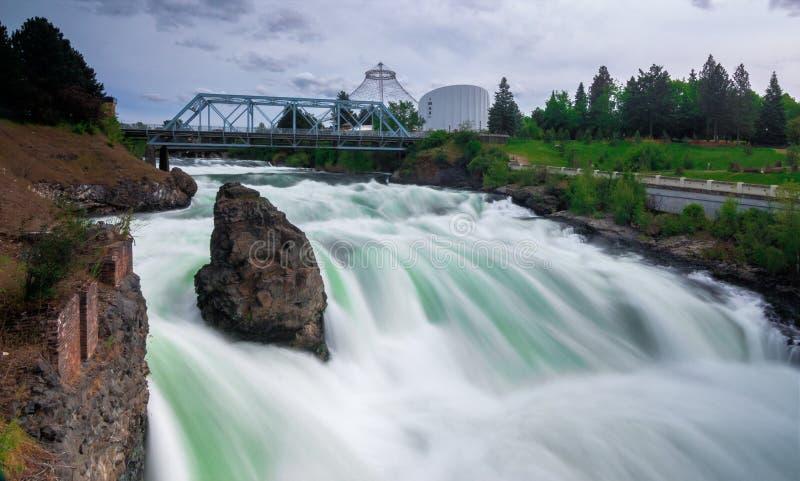 Fiume di Spokane, Washington State fotografia stock libera da diritti