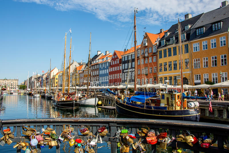 Fiume di Stoccolma fotografie stock