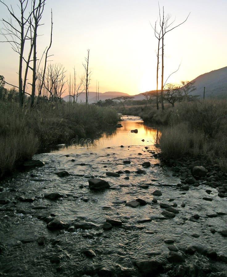 Fiume di tramonto fotografia stock libera da diritti