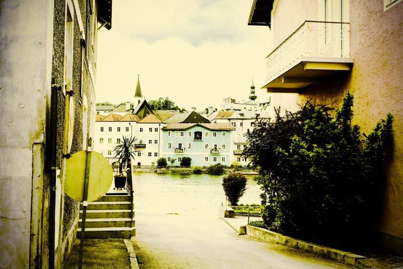 Fiume di Traun in Austria fotografie stock