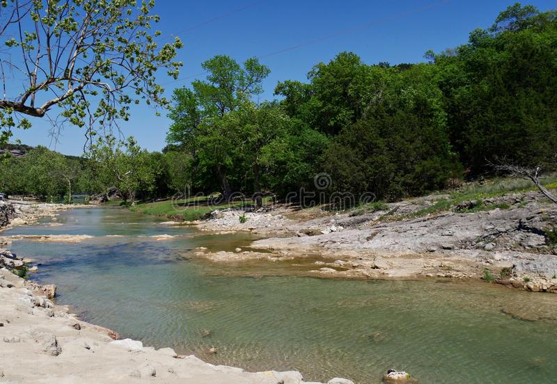 Fiume di Turner Falls, Oklahoma fotografia stock libera da diritti