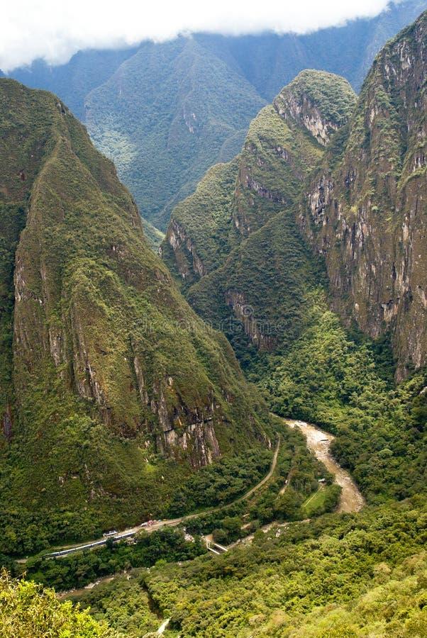 Fiume di Urubamba a Machu Picchu, Perù fotografia stock libera da diritti
